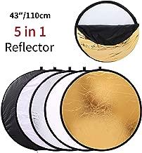 MOUNTDOG 43''/110cm Photography Reflector Photo Video Studio Multi Collapsible..