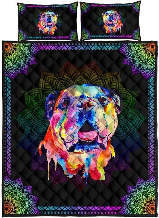 safety Personalized Mandala Bulldog Quilt Sets Kids Boys San Diego Mall Gift Birthday