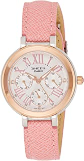 Casio Sheen Women'S Silver Leather Band Watch - She-3034Bgl-7Audr