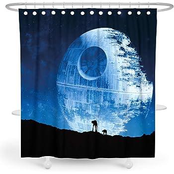 Funny Star Wars Custom Waterproof Fabric 3D Full Print Shower Curtain Bathroom