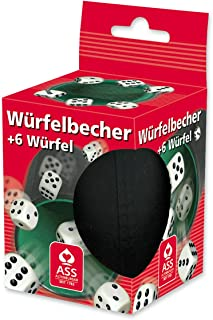tulipde W/ürfelbecher Lederw/ürfelbecher mit 5 W/ürfeln F/ür Tischspiele//Brettspiele//Indoor Entertainment