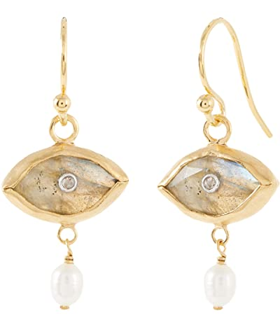 Chan Luu Evil Eye Earrings with Diamond Center