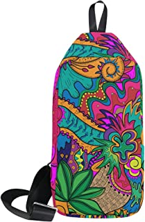 DragonSwordlinsu COOSUN Hippie Drawing Likes As Stoner Art Sling Bag Shoulder Chest Cross Body Backpack Ligero Casual Daypack para Hombre Mujer