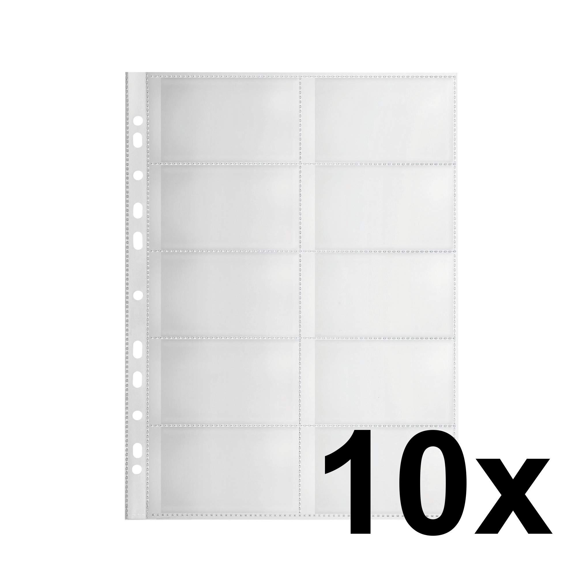 FALKEN Premium PP de plástico Fundas para tarjetas de visita para DIN A4 transparente granulada con