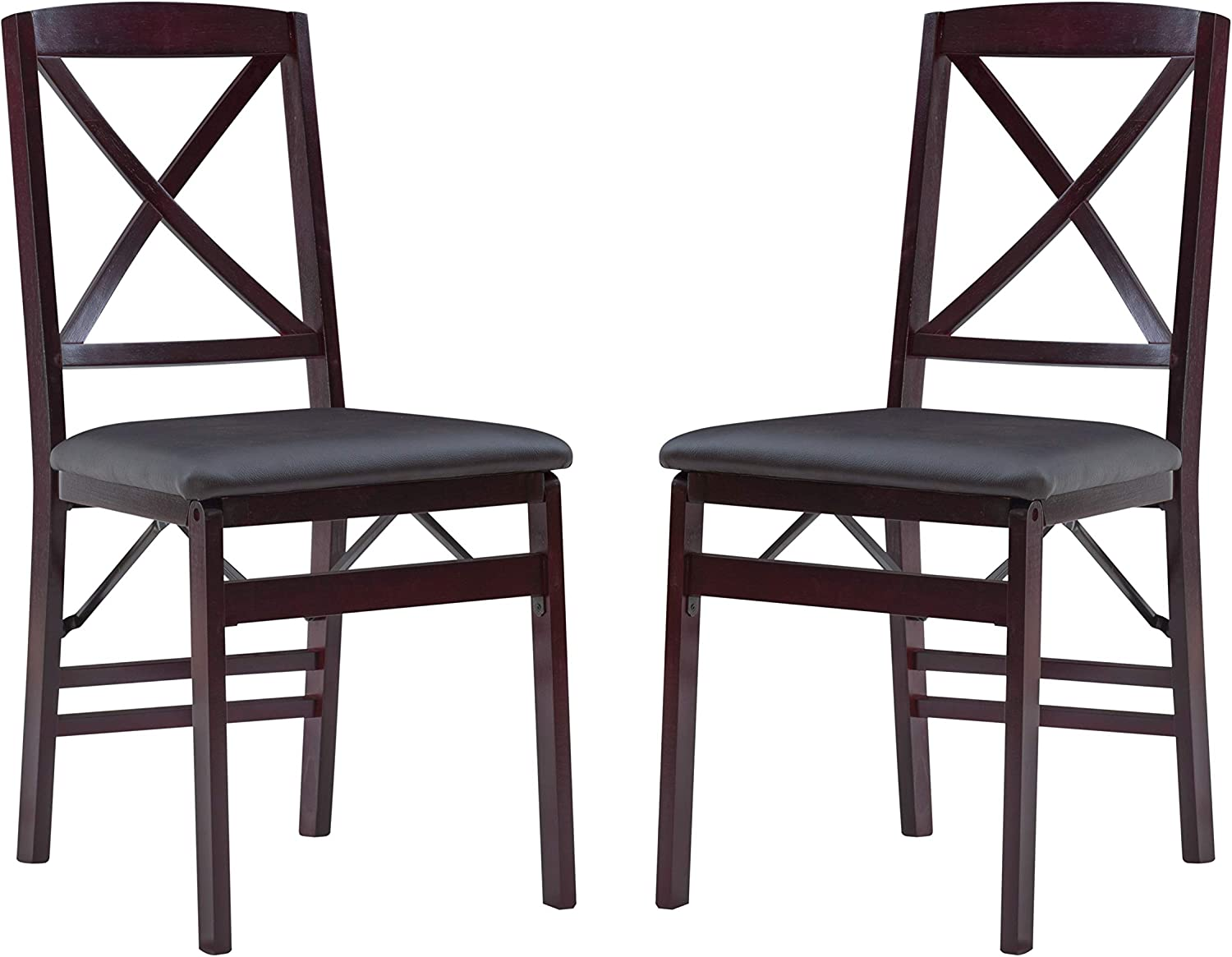 Linon Triena X Back Folding Set Chair 2 of New Max 89% OFF Free Shipping