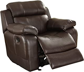 Homelegance Rocker Reclining Chair, Brown Bonded Leather