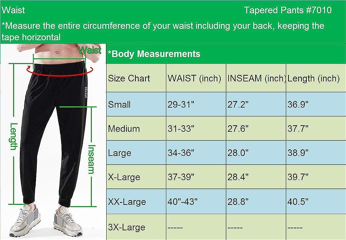 Neleus Mens Athletic Sweatpants Jogger Ankle Pants