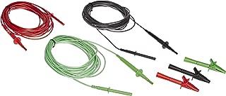 Fluke TL1550EXT 3 Piece Extended Test Lead Set with Alligator Clips, 5000V DC Voltage, 20A Current, 300