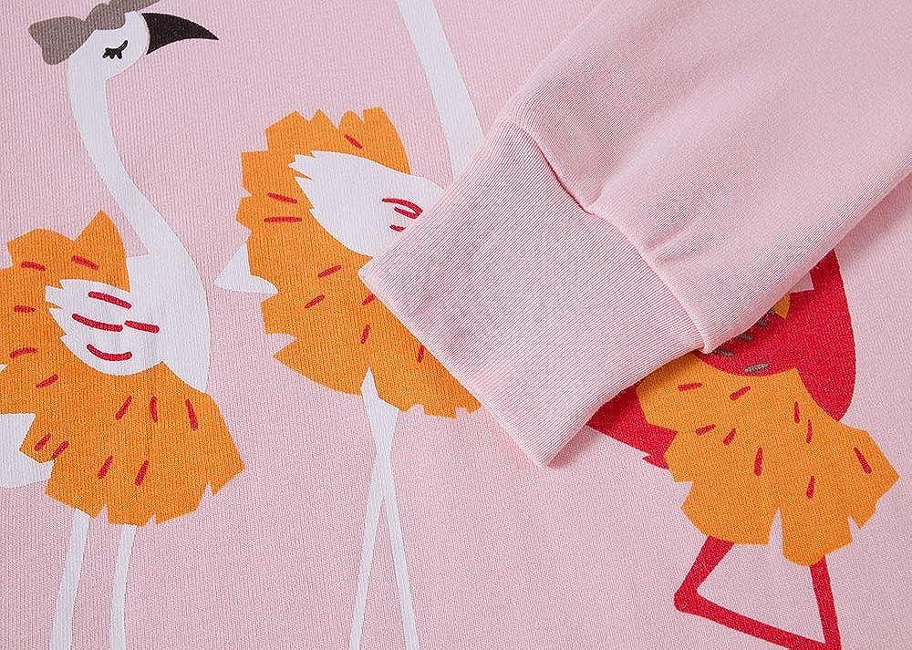 TEDD Fille Ensembles de Pyjama Enfants Coton Mignonne Longues Rose No/ël 2 Pi/èces V/êtements de Nuit 1-12 Ans