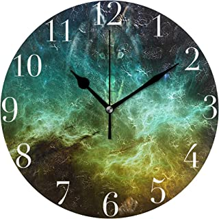 NMCEO Round Wall Clock The Gallery for Wolf Acrylic Original Clock for Home Decor Creative