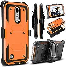 J.west LG Aristo Case, LG Phoenix 3 Case, LG K8 2017 Case, LG Fortune Case, Full-Body Rugged Belt Clip Holster Kickstand C...