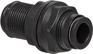 Legris 3116 06 00 Nylon Push-to-Connect Fitting, Inline Bulkhead Union, 6 mm Tube OD