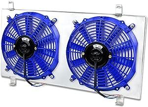 For Subaru Impreza WRX MT Aluminum Bolt-on Cooling Radiator Fan Shroud (Blue) - 3rd Gen GE GV GH GR