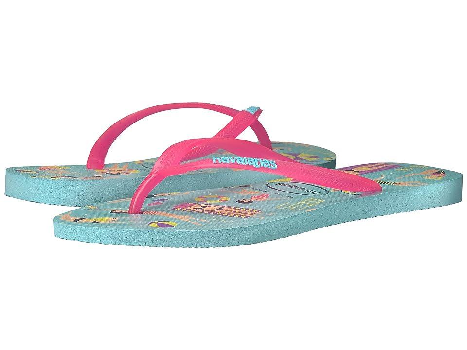 ef7a0139b Havaianas Havaianas Slim Cool Flip Flops (Ice Blue) Women