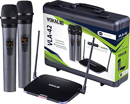 Microfone sem Fio Duplo VLA-42 VOKAL