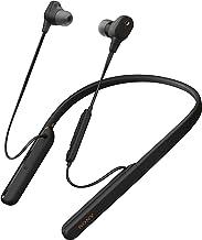 Sony WI1000XM2 - Auriculares Inalámbricos Noise Cancelling (Bluetooth, Sonido Adaptativo, Compatible con Alexa, Soporte Cuello de Silicona, 10h Batería, Llamadas Manos Libres), Negro
