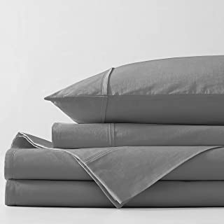 Bellagio Sheet Set Organic Cotton (Charcoal, Queen)