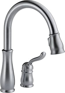 Delta Faucet Leland Single-Handle Kitchen Sink Faucet with Pull Down Sprayer and Magnetic Docking Spray Head, Arctic Stainless 978-AR-DST