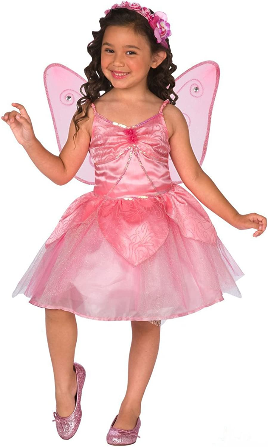 Girls Pink Fairy, Story Book Princess Fairy Costume