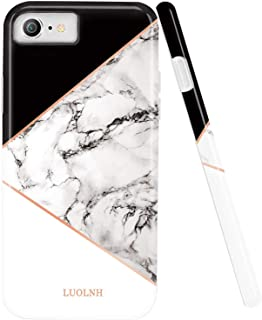 iPhone 5 Case,iPhone 5S SE Case,LUOLNH Marble Design Slim Shockproof Flexible Soft Silicone Rubber TPU Bumper Cover Skin Case for iPhone 5 5s SE -Geometric Black