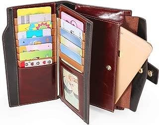 AINIMOER Women's Big RFID Blocking Large Leather Clutch Zip Wallet Card Holder Organizer checkbook holder Ladies Purse