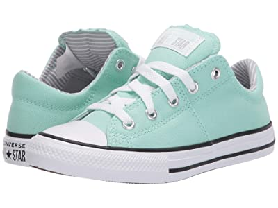 Converse Kids Chuck Taylor(r) All Star(r) Madison Pinstripe (Little Kid/Big Kid) (Ocean Mint/Wolf Grey/White) Girl