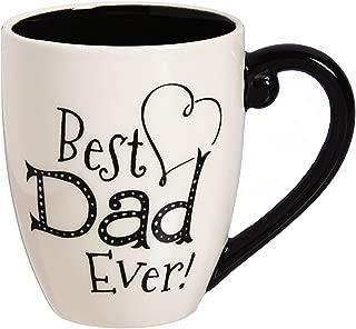 Dad 18 OZ Black Ink Ceramic Cup O' Joe - 4 x 5 x 6 Inches