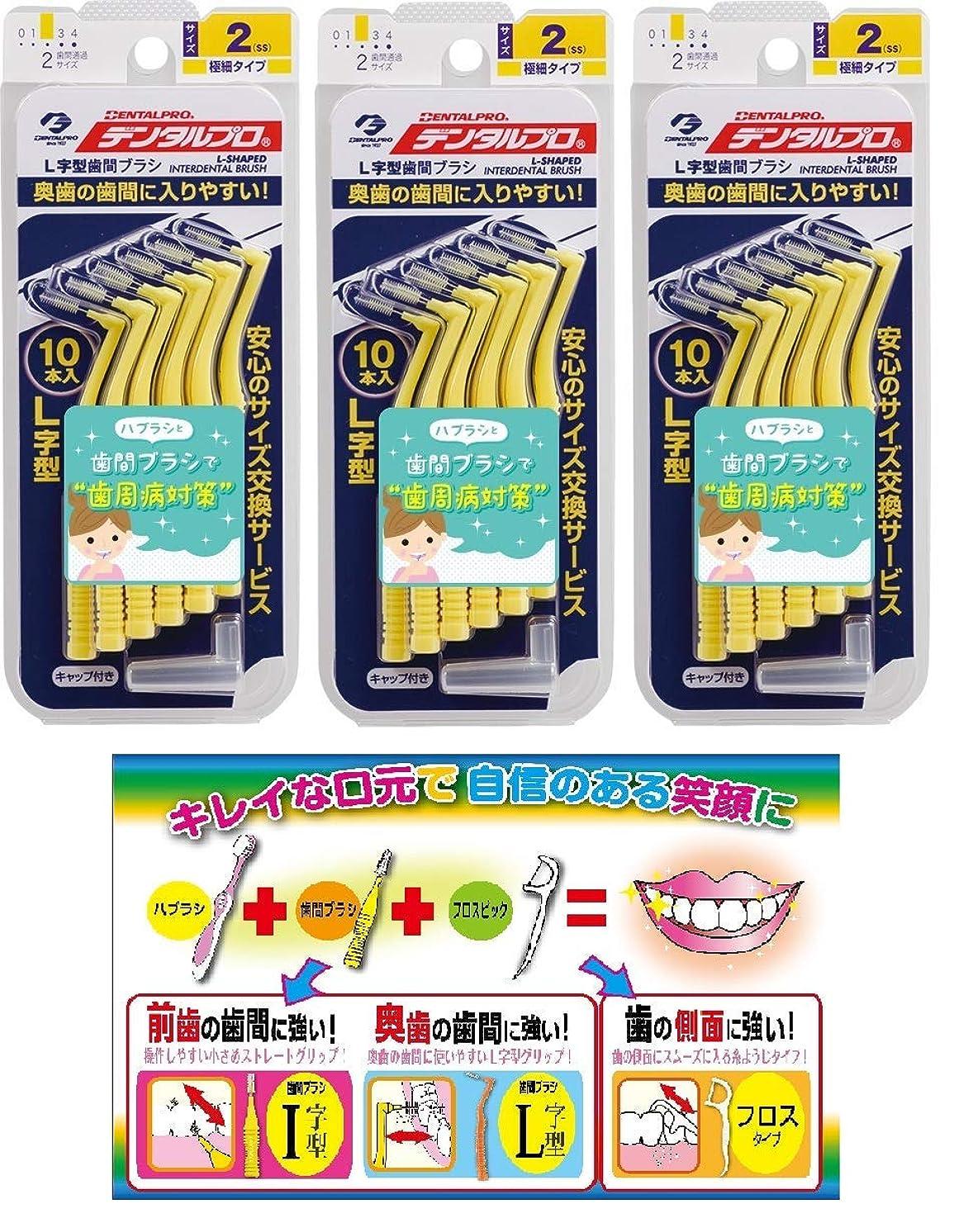懲らしめ例外芝生DP歯間ブラシL字型10本入サイズ2 3P+リーフレット