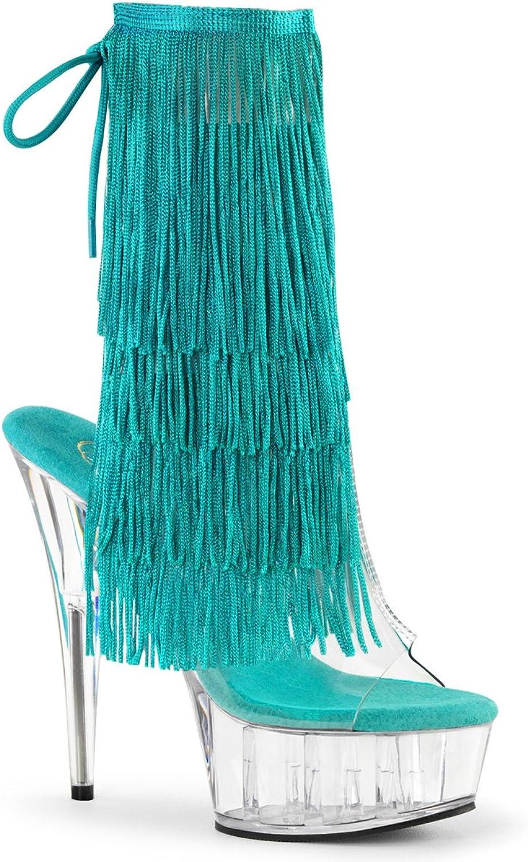 Pleaser DEL1017TF Damen Fransen Sandalette  | Neuer Stil