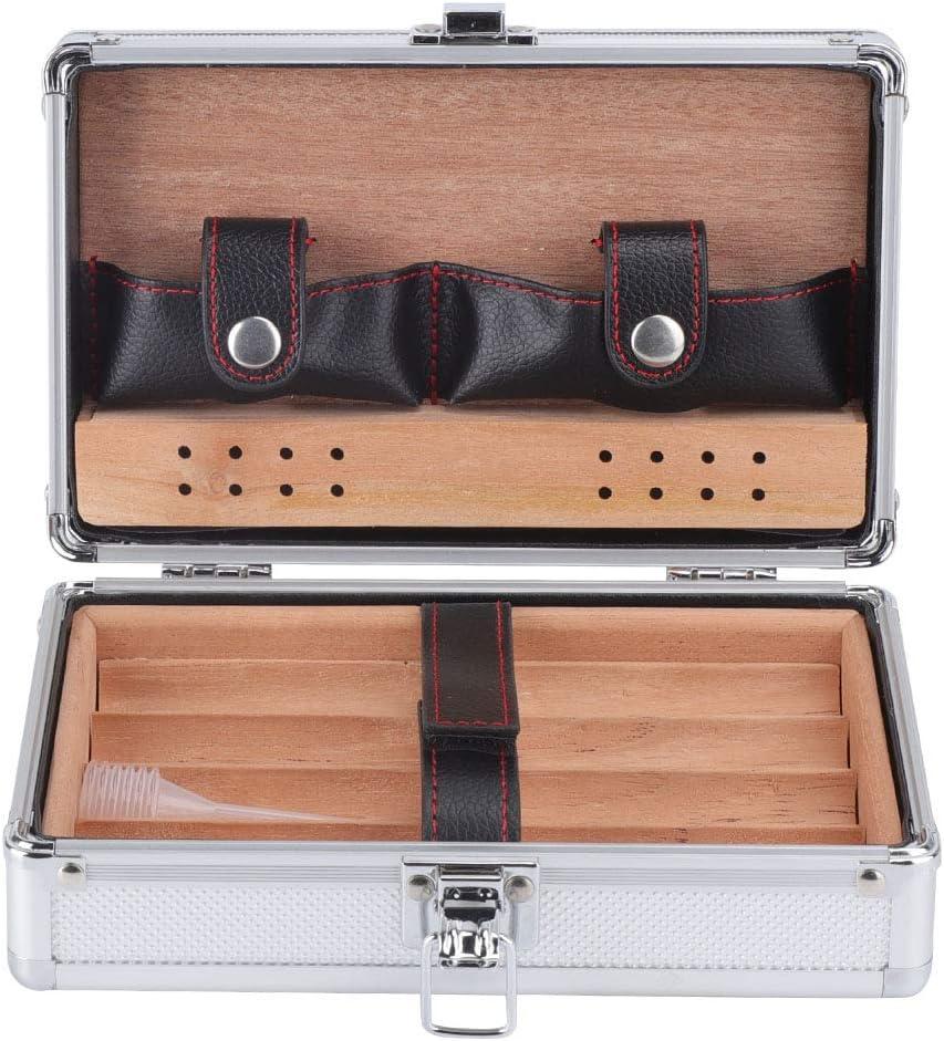 Aluminum Shell Cedar Lined Cigar Charlotte Mall Spasm price Portable Humidor Case T Storage