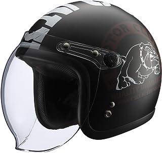 RIDEZ(ライズ) ジェットヘルメット KNUCKLE HEAD BULL2 BK/WH (57-60cm)BULL2
