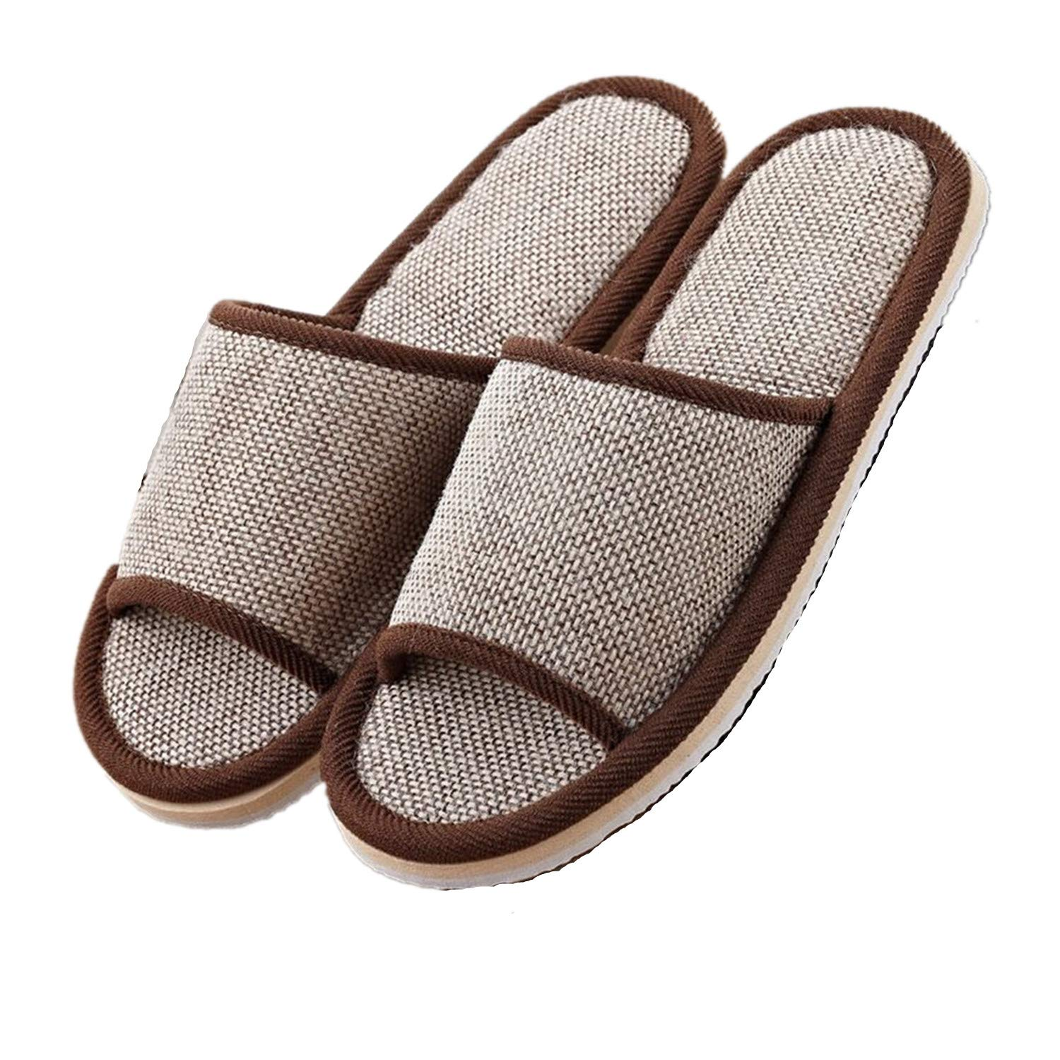 2 Pairs Spa Max 79% OFF Sale Special Price Slippers House for Thick Open Men Flax Toe