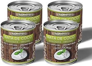 Naturseed - Nata de coco ecológica ORIGINAL 4x 200ml para cocinar, sin lactosa, sin
