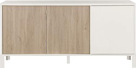 GAMI Alpha 3 Doors Sideboard, Untreated Oak Melamine, 1J0A504