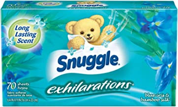 Snuggle Exhilarations Fabric Softener Dryer Sheets, Blue Iris & Ocean Breeze, 70 Count