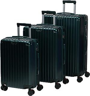 مجموعة حقائب سفر بعجلات للجنسين من تشاليش - 3 قطع، لون اخضر داكن