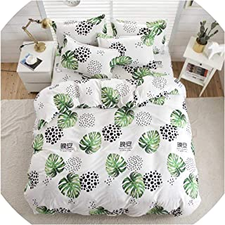 Bedspreads Yellow King Bed Quilt Cover Queen Size Bedding Covers Cartoon Kids Bed Linen Single for Children Double Bedding Sets,218,Double 4Pcs,Flat Bed Sheet