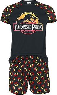 Jurassic Park Logo Homme Pyjama Noir, ,