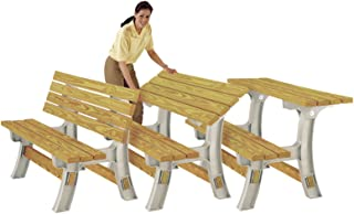 2x4 Basics Flip Top Garden Park Picnic Outdoor Bench Table Kit