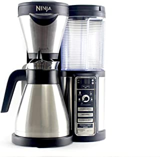 Ninja Coffee Bar Auto-iQ Easy Frother 43 oz. Double Wall Stainless Steel Thermal Carafe Flavor Extraction CF086 (Renewed)