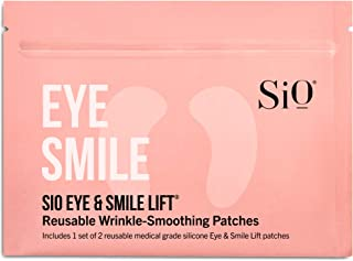 SiO Beauty Eye & Smile Lift | Eye & Smile Anti-Wrinkle Patches 2 Week Supply | Overnight Smoothing Silicone Patches For Ey...