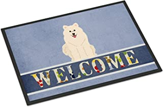 Caroline's Treasures BB5611MAT Samoyed Welcome Indoor or Outdoor Mat 18x27, 18H X 27W, Multicolor