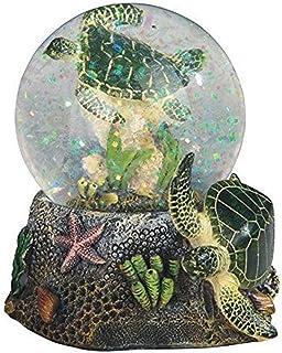 "StealStreet Marine Life Snow Globe with Sea Turtle Statue Figurine, 3.75"""