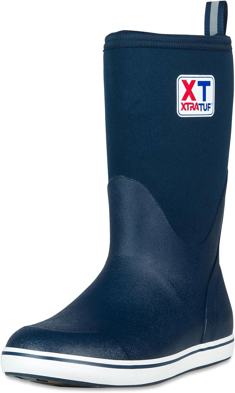 XTRATUF Performance Series 12  Men's Neoprene & Rubber Deck Boots, Navy (22602)
