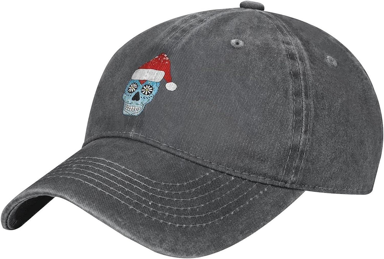 Ranking TOP6 Sugar Skull Santa Max 80% OFF Christmas Kids Baseball Adjustable Cap Distres