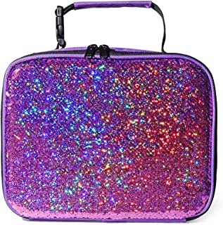 Glitter Flipper Sequin Girls Insulated Lunch Box Bag, Fun&Cute