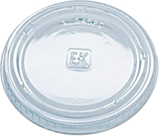 Fabri-Kal XL345PC Clear Polyethylene Terephthalate Lid for 3.25 4 5.5-Ounce Portion Cup (Case of 2500)