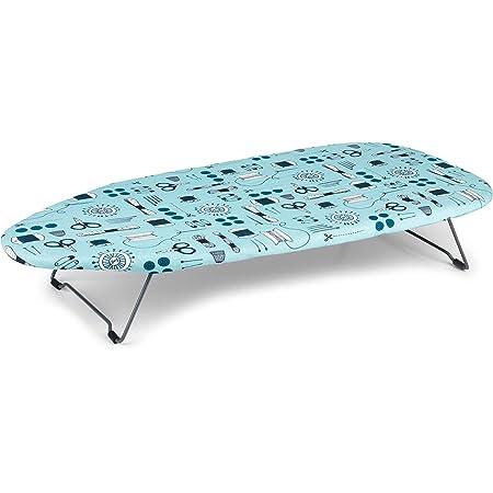 Beldray LA023735SEW Desk Table Top Ironing Board, Steel, Sew Print, 73 x 31cm