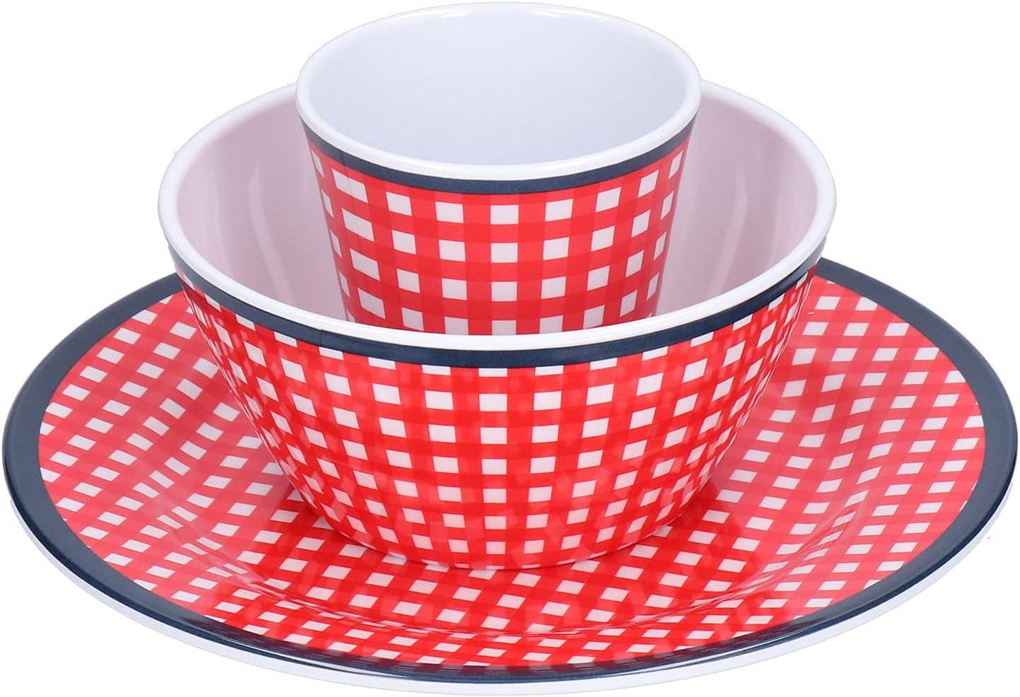 Plates And Genuine Bowls Sets Lightweight Dinnerware 3Pcs Sale item Set for H