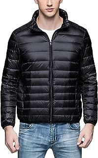 Men's Winter Down Puffer Jacket Coat Packable Ultra Light Weight